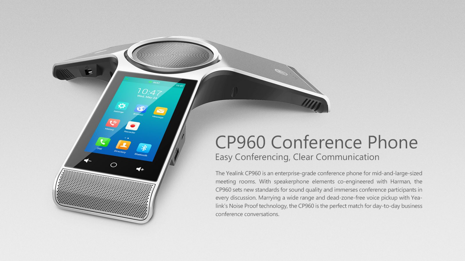 Yealink CP960 IP Conference Phone -Wireless Mic | Yealink Hong Kong Distributor - Sipmax Technology Group - Contact us now : www.sipmaxhk.com