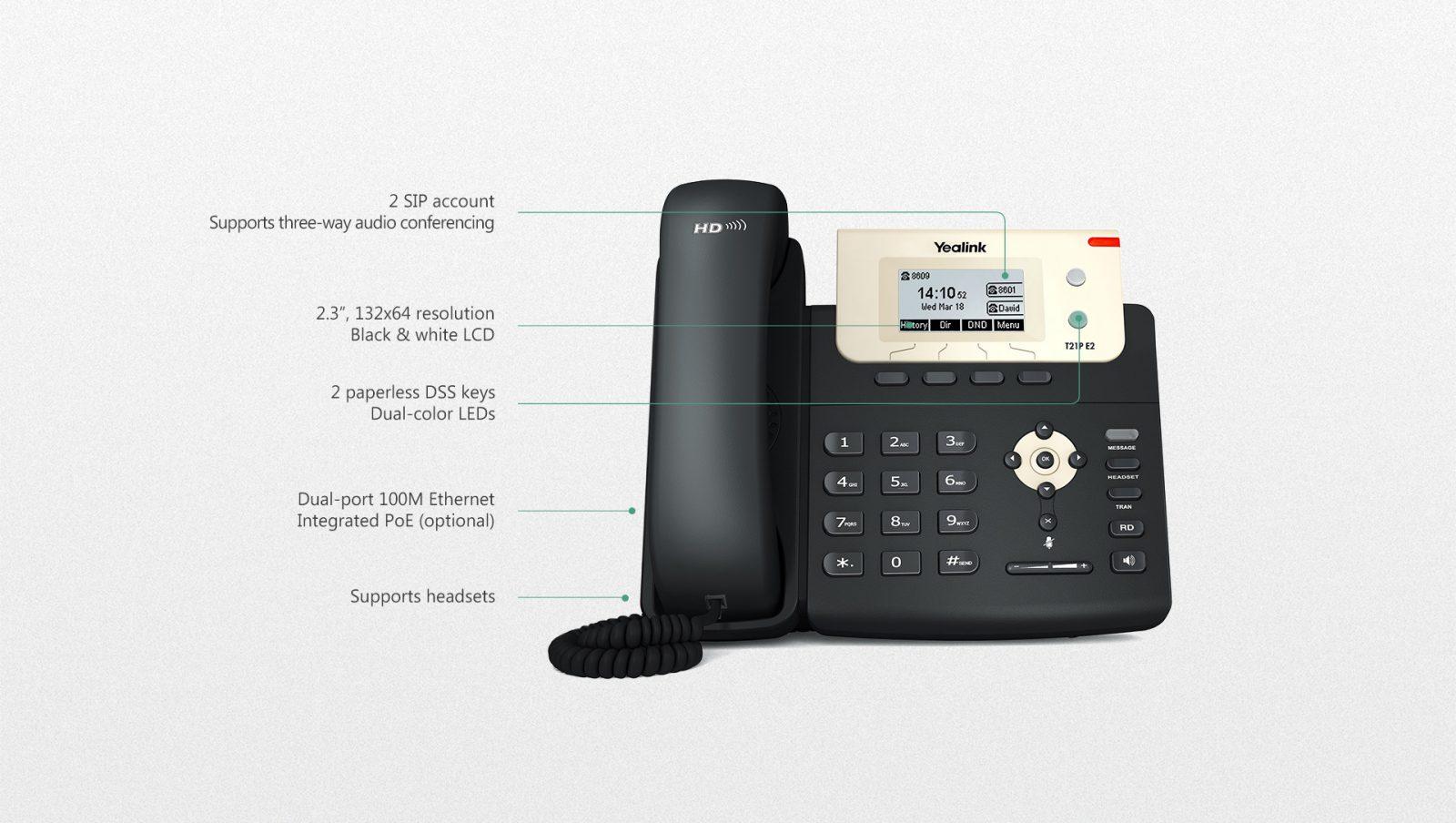 Yealink T21 IP Phone - Hong Kong Hotline: 39001988 - Matrix Technology (HK) Ltd