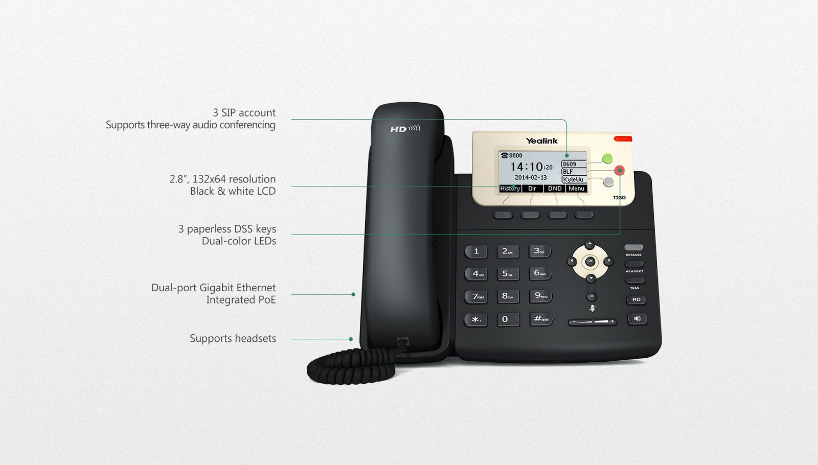 Yealink T23G IP Phone - Hong Kong Hotline: 39001988 - Matrix Technology (HK) Ltd
