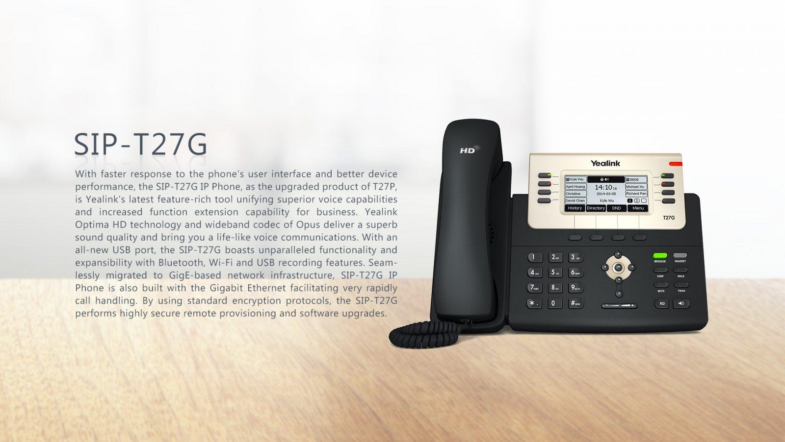 Yealink T27G Gigabit POE IP Phone