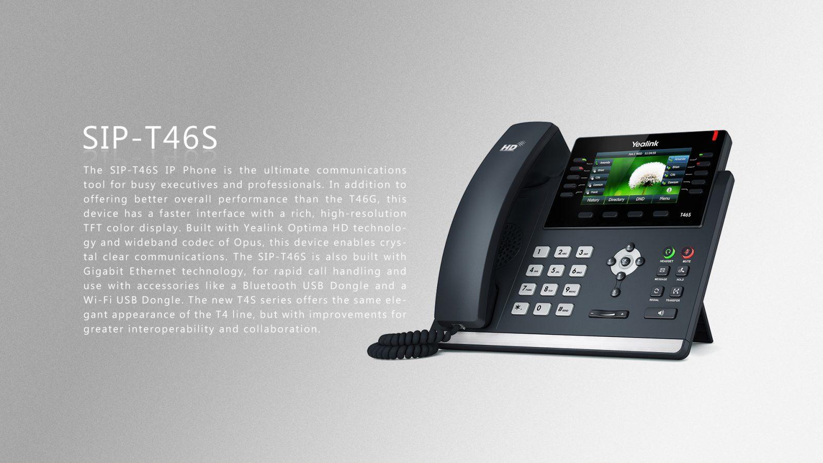 Yealink T46S POE IP Phone - Giga POE 2 7
