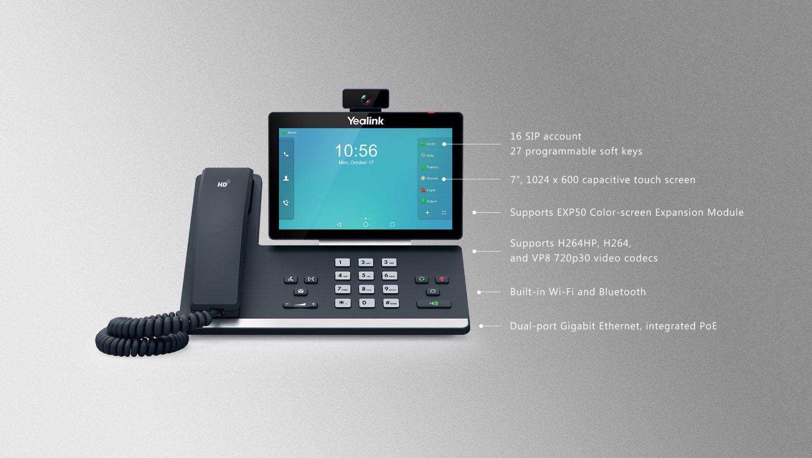 Yealink T58V Smart Media Phone (T58A with Camera) - SIPMAX Hong Kong