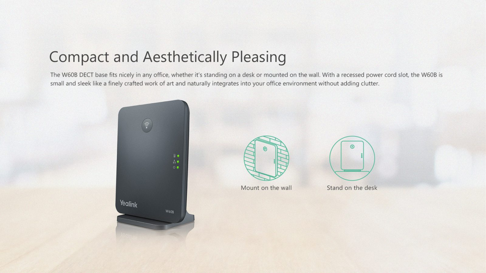 Yealink W60P DECT IP Phone Package