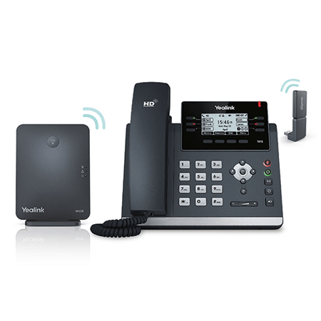 Yealink W41P DECT Desk Phone Package (include: T41S + W60B Base + DD10K Dongle)