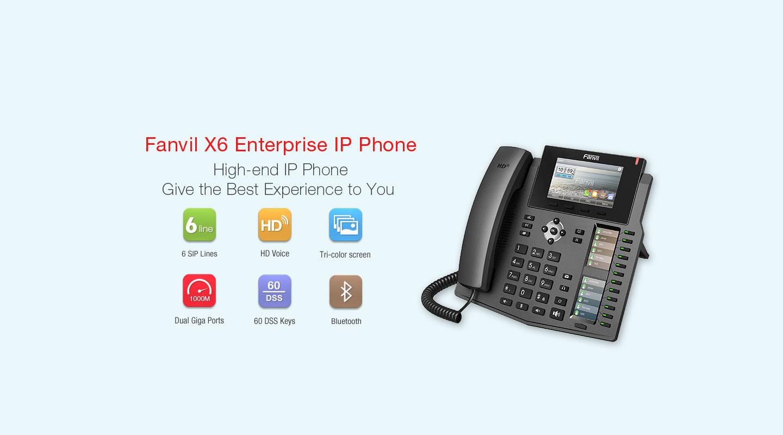 Fanvil X6 IP Phone (Gigabit & POE) - Fanvil Hong Kong - 香港代理