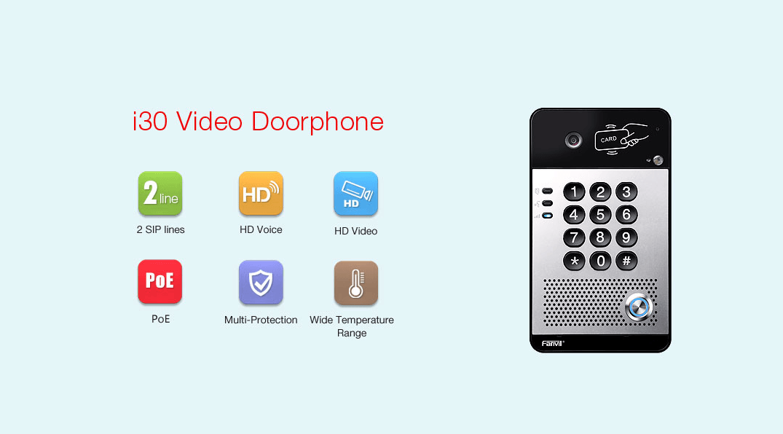 Fanvil i30 SIP Video Doorphone - Fanvil Hong Kong - 香港代理