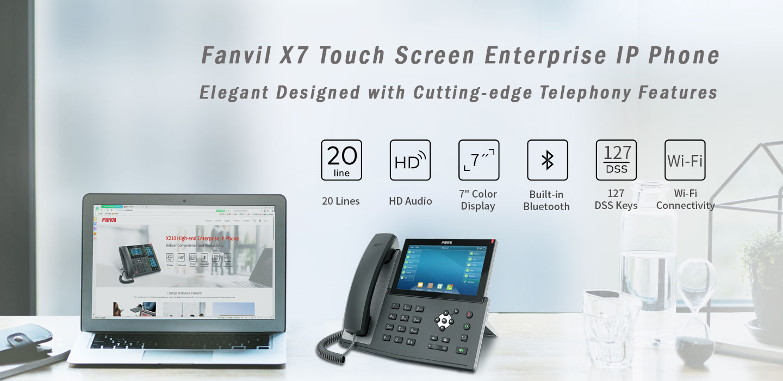 Fanvil X7 7″ touch Screen Gigabit IP Phone (POE) - Fanvil Hong Kong - 香港代理