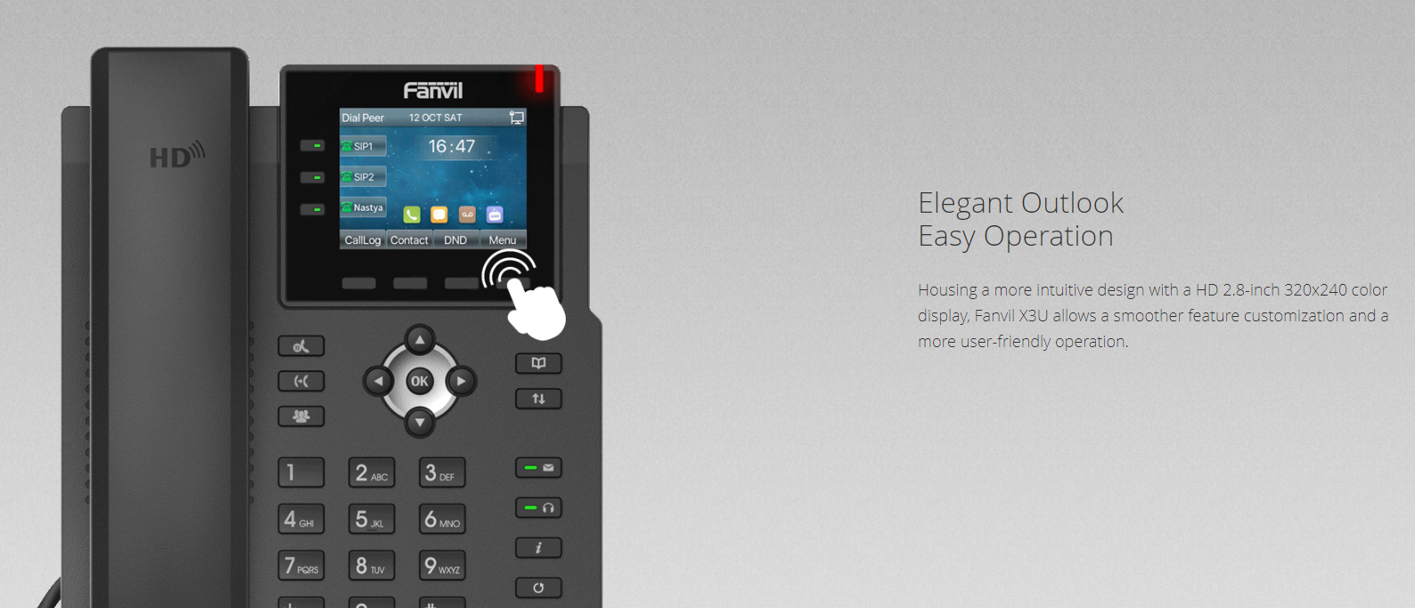 Fanvil X3U IP Phone (Gigabit, POE ) - Hong Kong Distributor - 香港代理
