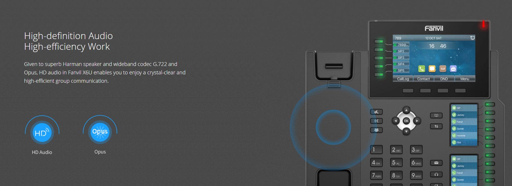 Fanvil X6U IP Phone (Gigabit, POE & Bluetooth) - Hong Kong Distributor - 香港代理