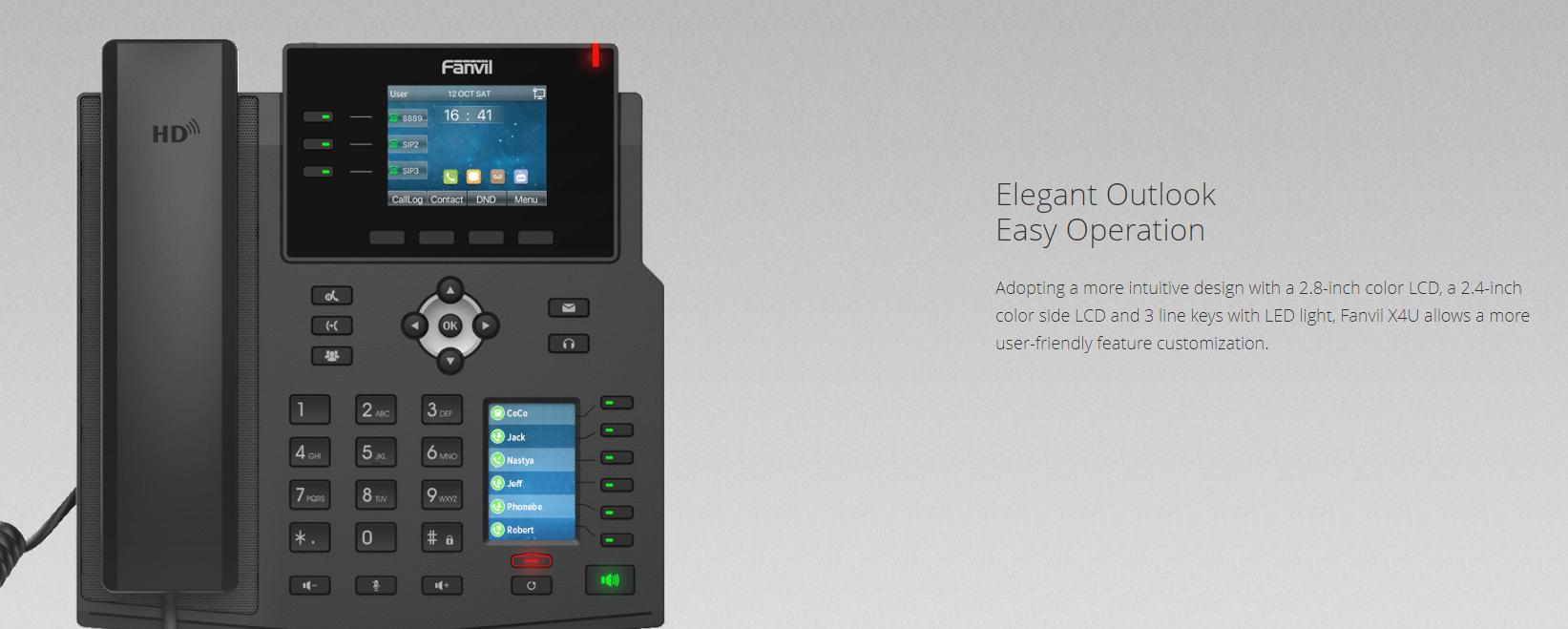 Fanvil X4U IP Phone (Gigabit, POE ) - Hong Kong Supplier - Sipmax Technology Group - 香港代理