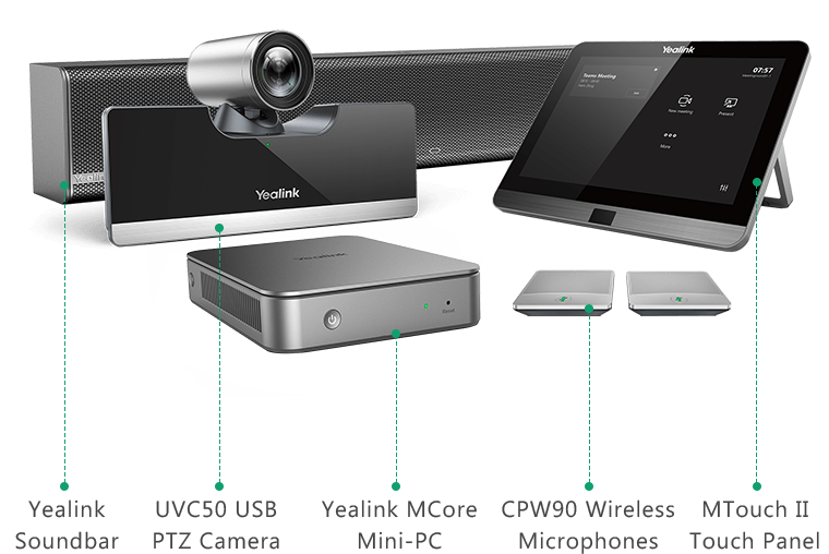 Yealink MVC500 II - Microsoft Teams Room System for Small Rooms and Medium Rooms - Hong Kong Supplier - simpaxhk.com