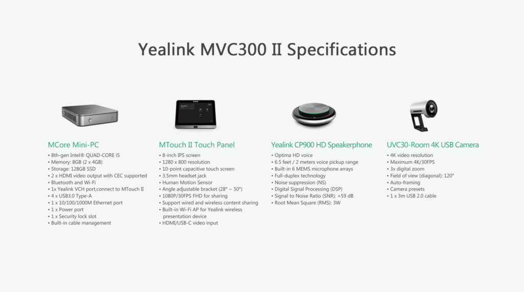 Yealink MVC300 II Mircosoft Teams Room System - Hong Kong Supplier - Sipmax Technology Group
