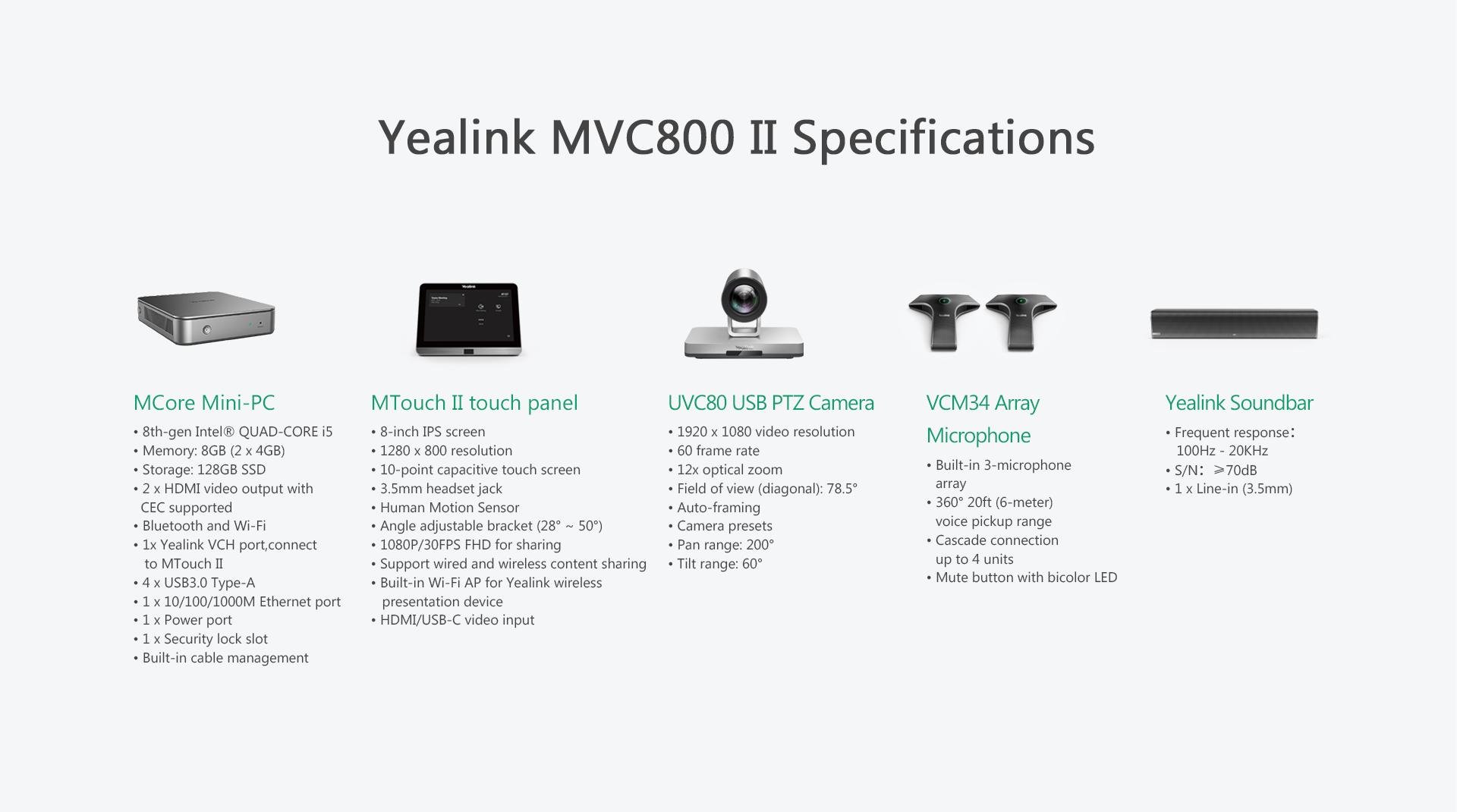 Yealink MVC800 II Microsoft Teams Room System