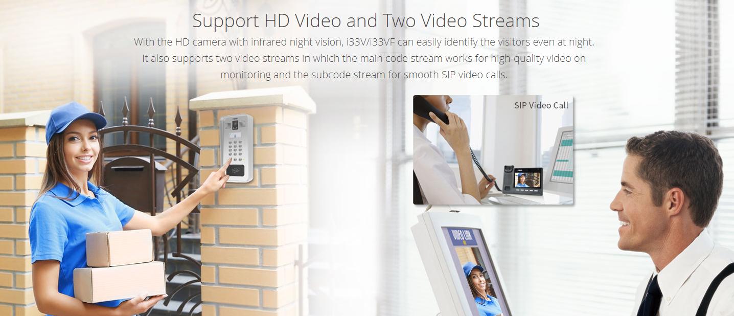 33V/i33VF SIP Video Door Phone - Hong Kong Supplier - Sipmax - 香港代理