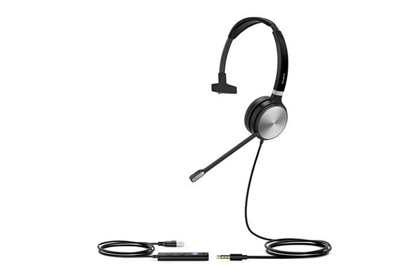 Yealink UH36 Mono Wired USB Headset (Certified for use with MS Teams)