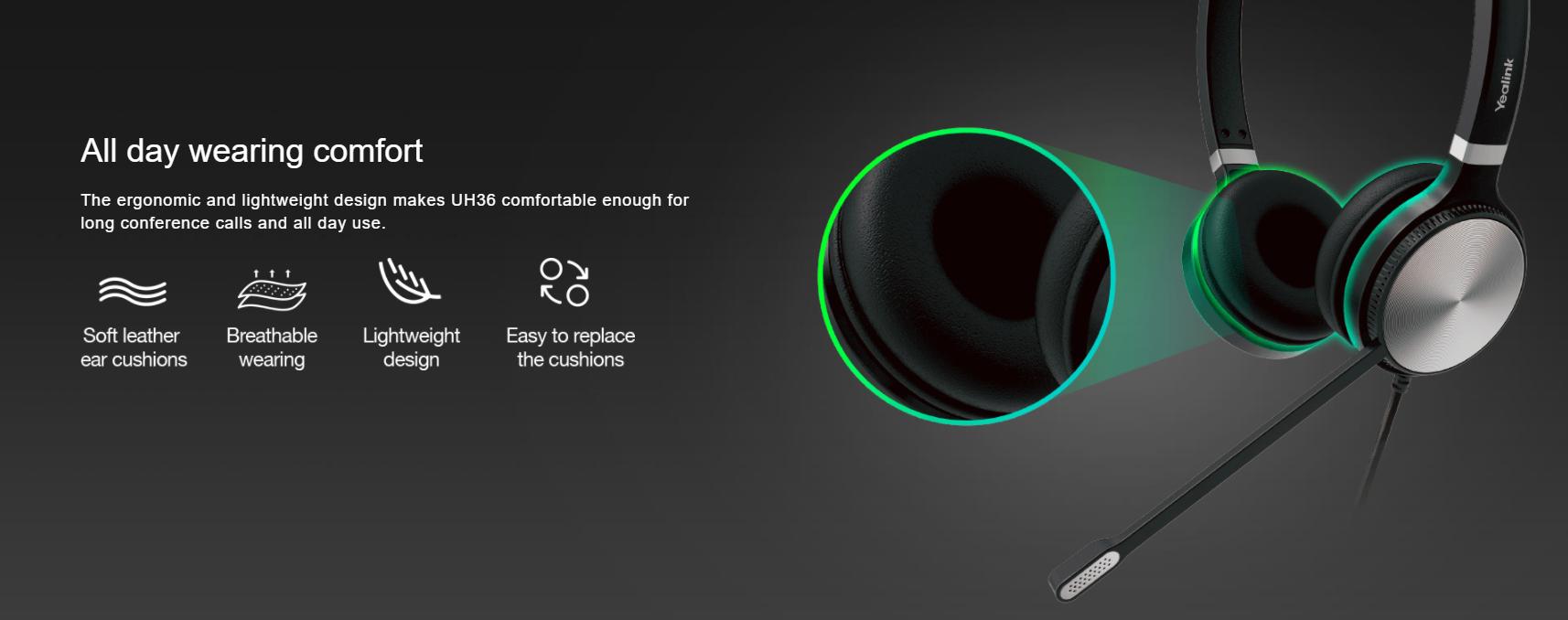 Yealink UH36 Mono Wired USB Headset - Hong Kong - Sipmax - Tel:2153 0231 - 香港代理