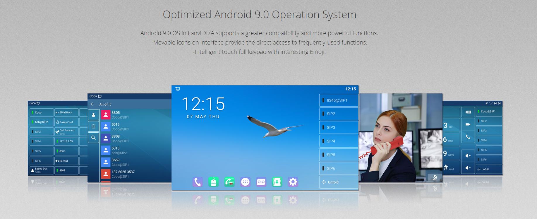 Fanvil X7A Android IP Phone with Camera - Hong Kong Distributor - 香港代理