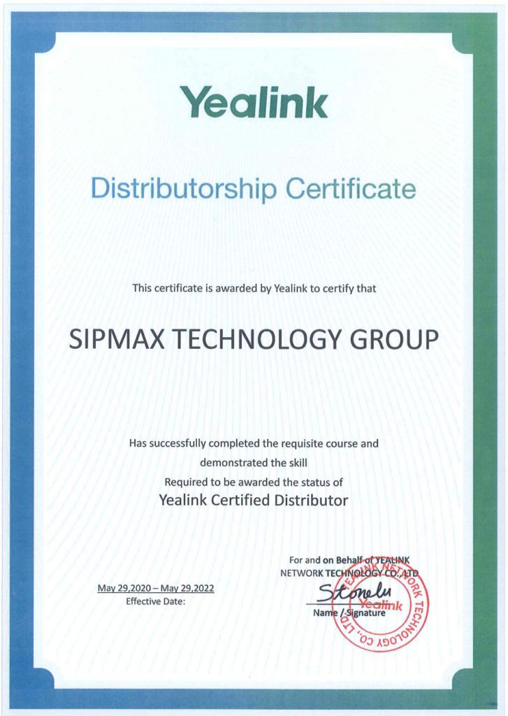Yealink Certified Distributor (Hong Kong)